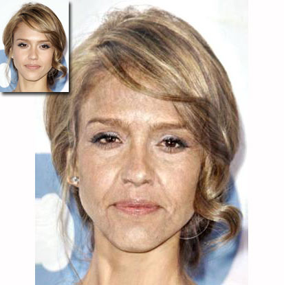 This is what Jessica Alba might look like in 40 years.