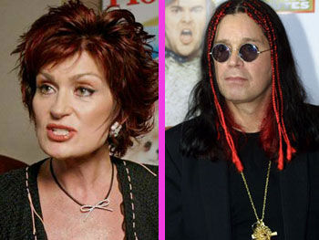 Rotten Ozzy and Sharon Osbourne