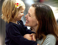 Jennifer Garner and her child