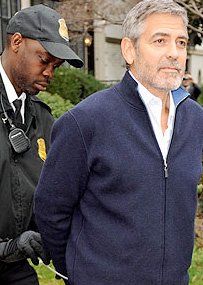 George Clooney Arrested in Protest