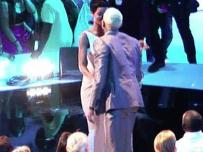 Rihanna Greets Chris Brown at the VMAs