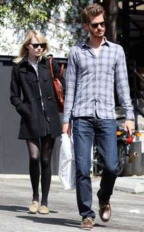 Andrew Garfield and Emma Stone's Book Shopping Date
