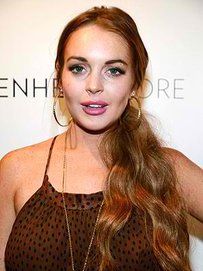 Lindsay Lohan meets Max George's parents